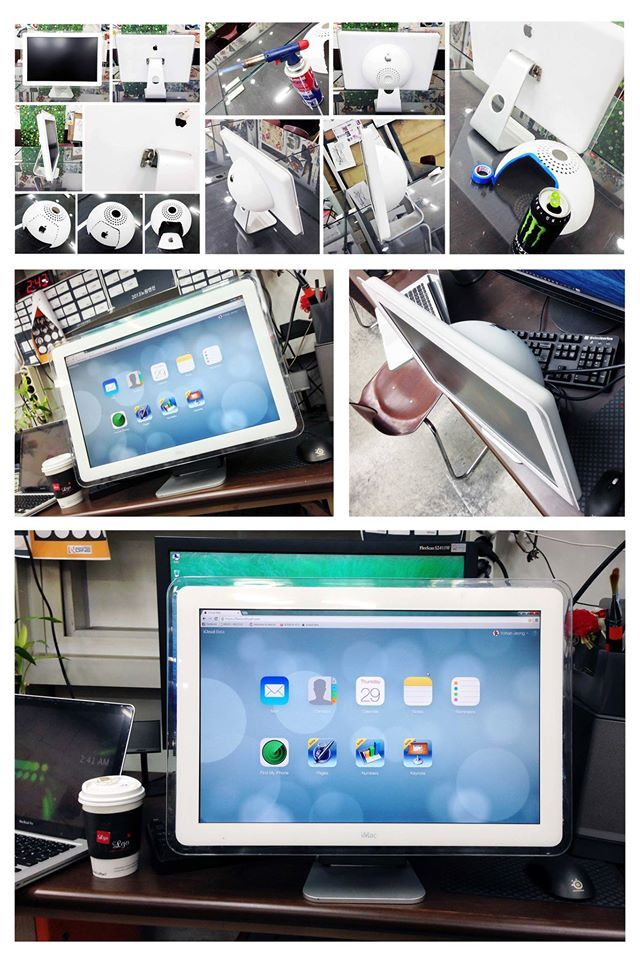고장난 찌꺼기들을 모아 새로운 짝퉁 애플 모니터를 만들어 사용하고 있습니다만, 뭐~ 비교적 쓸만합니다^^