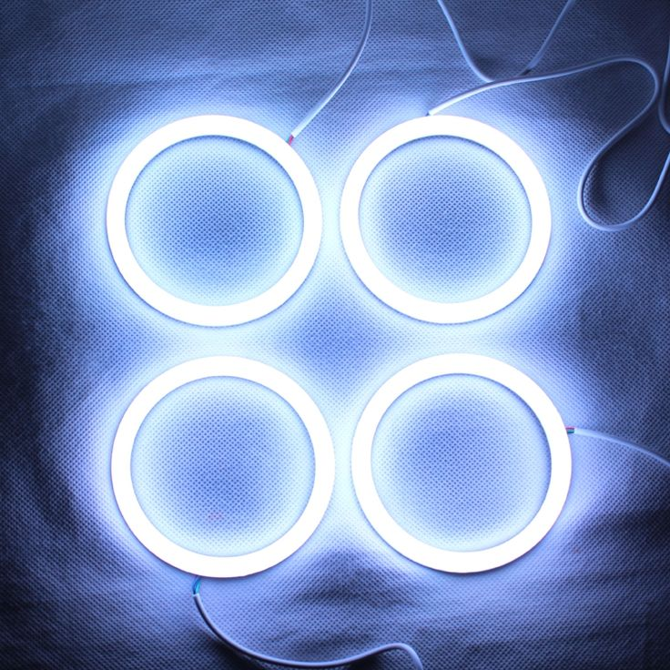 46.00$  Watch here - http://alid8y.worldwells.pw/go.php?t=32511320529 - RGB Angel Eyes Cotton Light LED Light DRL Turn Light For Car Headlights - One set 46.00$