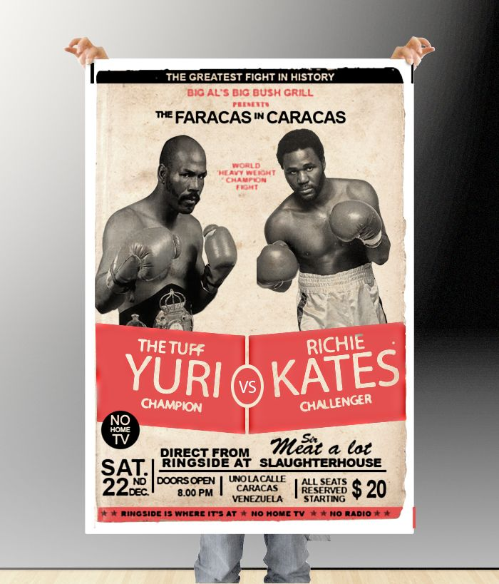 boxing poster template free