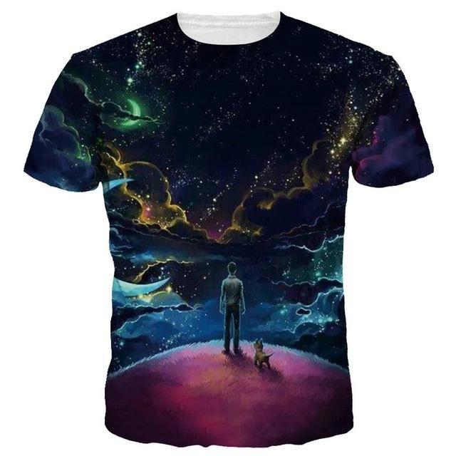 Moon Shirt All Over Print, Space T Shirt rave shirt club wear