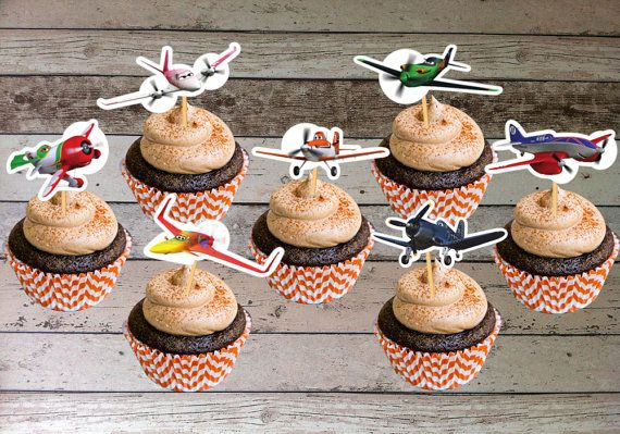 Disney Planes Cupcake Toppers - Digital File - Printable for Disney Planes Party Theme (Instant Download)