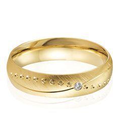 Alliance or jaune et diamant Milissa