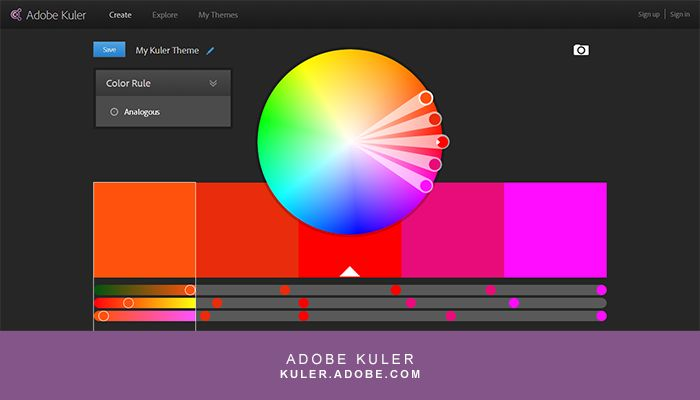 Adobe Kuler http://kuler.adobe.com/ is my go-to suggestion for online color palette generators because it's free, easy to use, and has algorithms if you'd like to practice your color theory-based palettes.