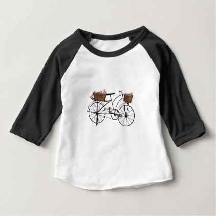 Antique bicycle baby T-Shirt - antique gifts stylish cool diy custom