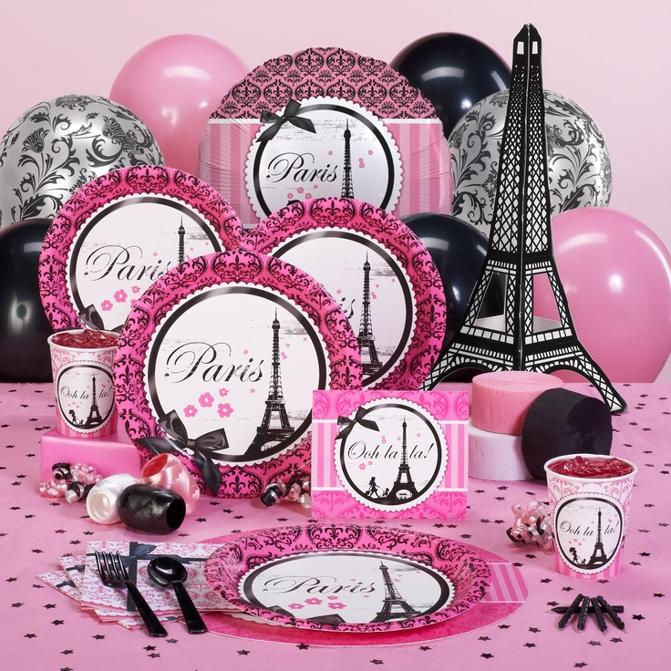 parisian theme 13th birthday party a collection of holidays and events ideas to try paris. Black Bedroom Furniture Sets. Home Design Ideas
