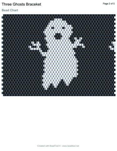 how to make a beaded ghost