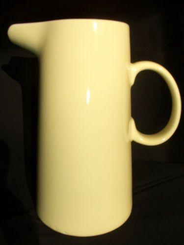 Kanne-Krug-Wasserkanne-Saftkanne-Melitta-Deko-ca-50-Jahre-alt-gelb-selten