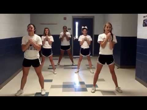LHHS Cheer tryout material 2015 - YouTube