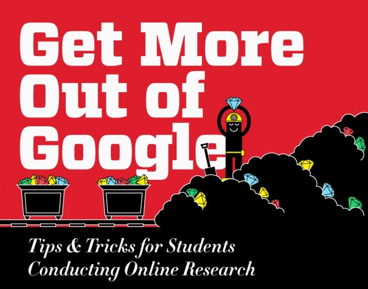Infographics: Get More Out Of Google. Tips & Tricks for better Online Research.