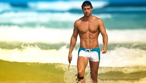 Bañador para hombre en tonos veraniegos.