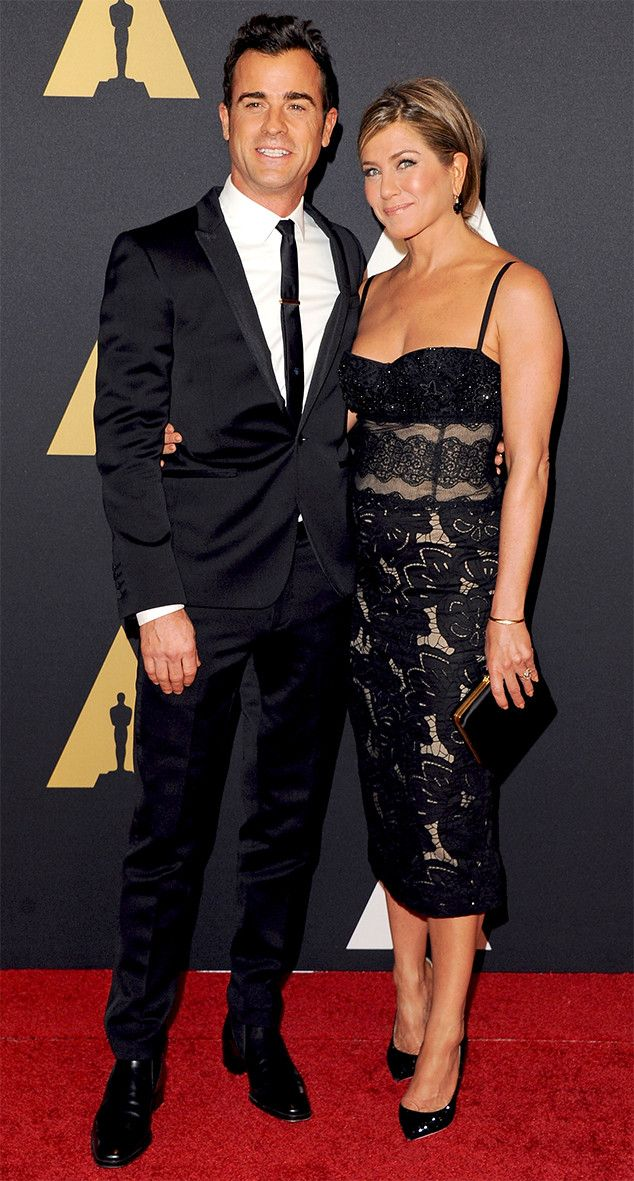 Jennifer Aniston, Wearing Daring Dress & Engagement Ring, and Justin Theroux Join Other Celebs at Governors Awards—See Pics!  Justin Theroux, Jennifer Aniston, Governors Awards