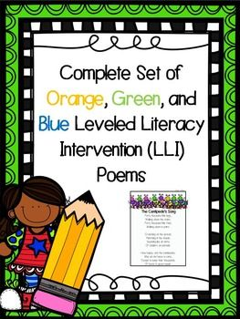 Complete Set of Orange, Green, and Blue Leveled Literacy I …