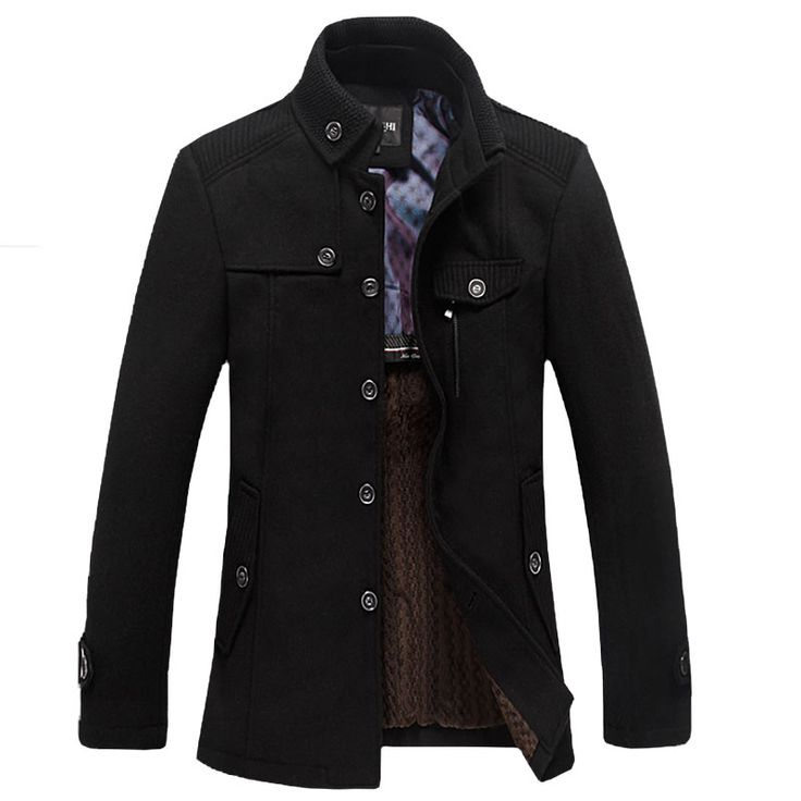 Free shipping 2014 casual long section of the stand up collar men s windbreaker jacket thickened. Click visit to buy