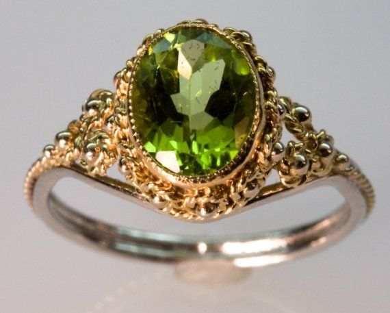 Golden Peridot Ring in 14K Gold by FernandoJewelry on Etsy, $675.00 Dreamed about this ring a few years ago...