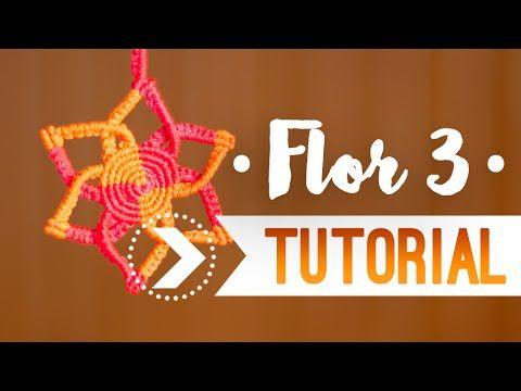 Flor 3 / Tutorial de macramé ♥︎ - YouTube