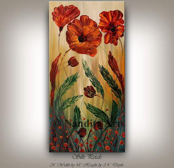 quadro su parete marrone olio su tela : su Fiore Dipinto Su Tela su Pinterest Tela fai da te, Idee in tela ...