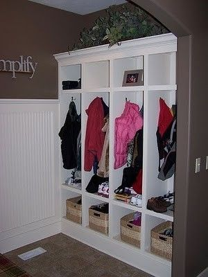 more closet space organized and cute! Add curtains in you need it more private for the room!