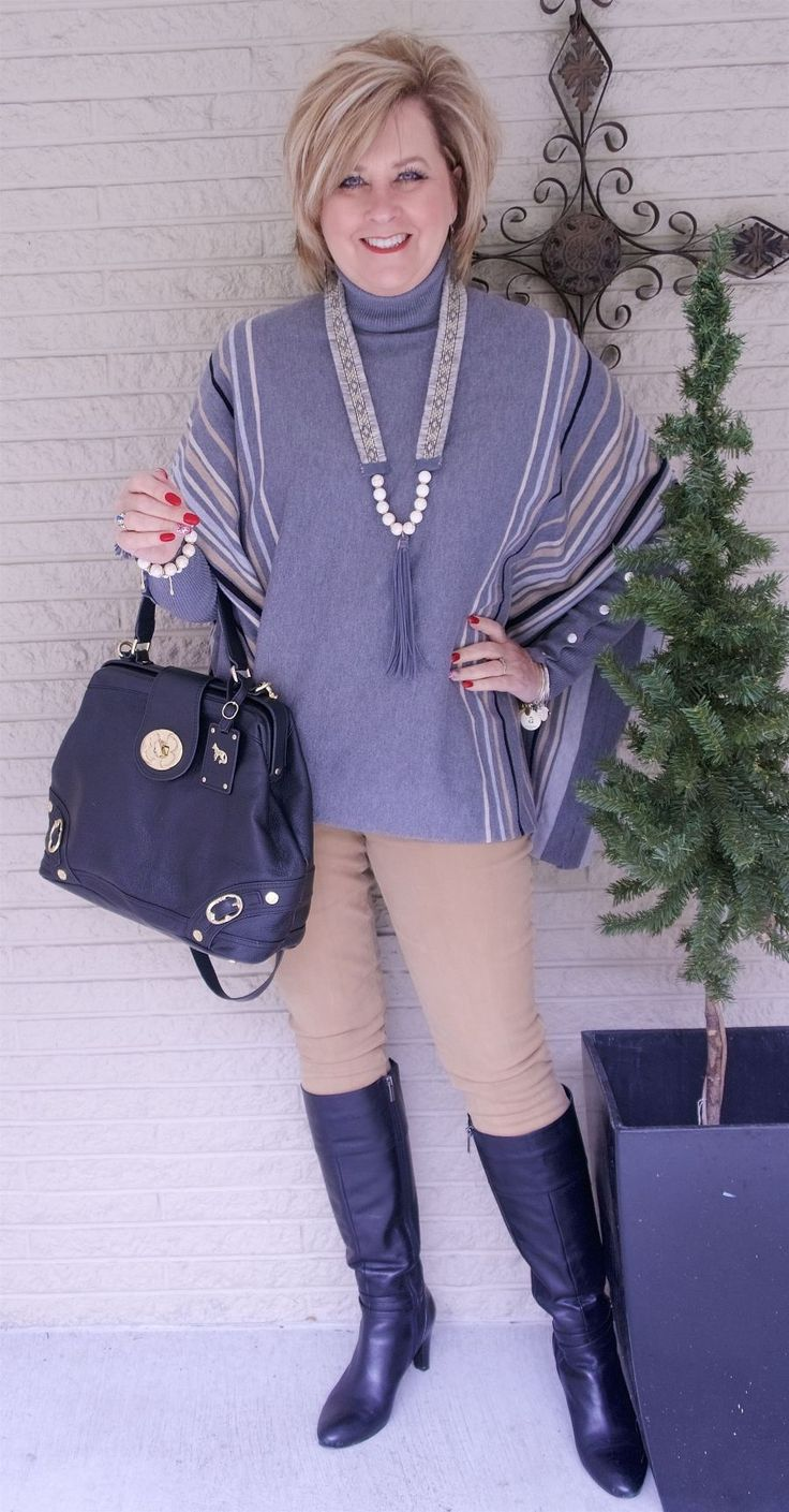 50 IS NOT OLD | THE PONCHO STYLE | Gray | Neutrals | Fashion over 40 for the everyday woman