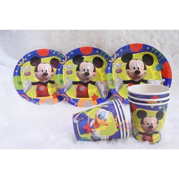 Jual Beli Paket Piring Gelas Karakter Mickey Mouse atau perlengkapan makan minum pesta ulang tahun anak kartun micky donald duck disney kertas tebal birthday Baru   Peralatan Makan Berkualitas Murah    Bukalapak