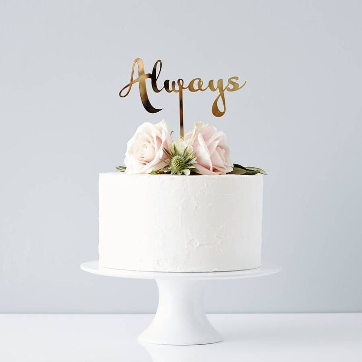 Calligraphy Always Wedding Cake Topper - Harry Potter theme! Could do for Hayley\'s wedding :-)