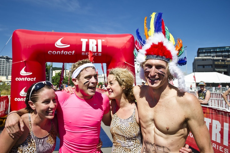 Wellington was the first time the Contact Tri Series has included a mixed teams tag relay race. The inaugral race was won by 'The Naked Apaches'