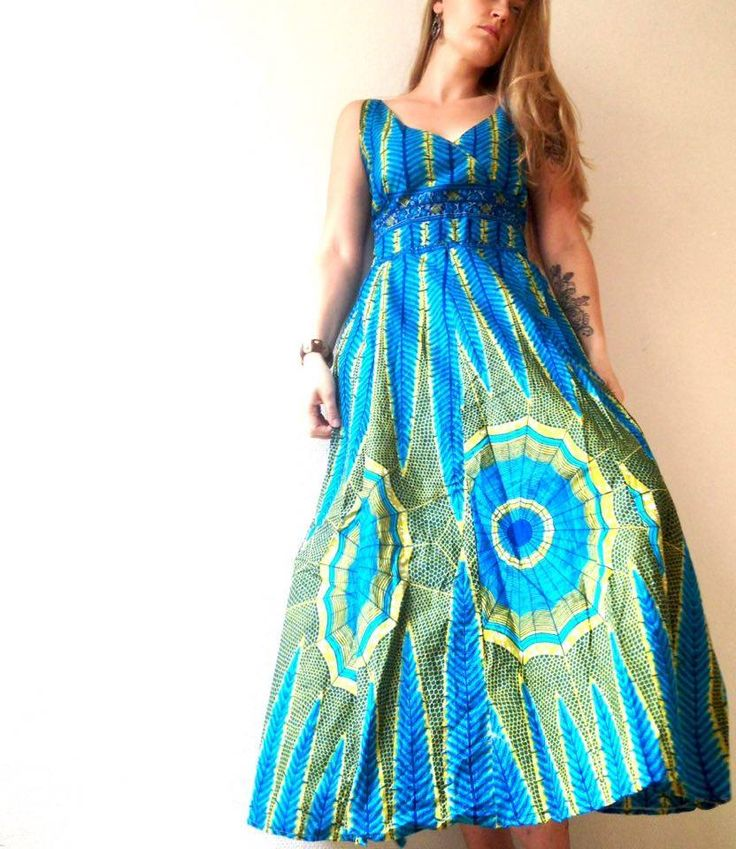Maxidress in african print