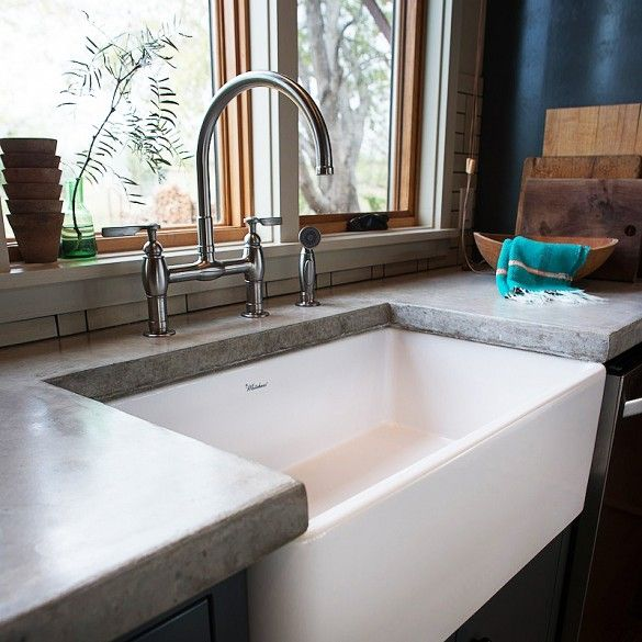 Inside an eclectic austin kitchen concrete counter - Kitchen sinks austin tx ...