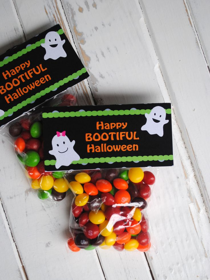 free treat bag topper printable and 6 halloween treat ideas - Pinterest Halloween Treat Bags