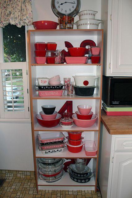 Pink red pyrex flickr photo sharing absolutely pyrex pinterest vintage kitchen - Flamingo pink kitchenaid mixer ...
