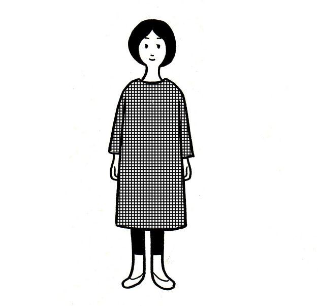 シンプルで簡単なワンピースを作る (少ない服で着回す) - 少ない物ですっきり暮らす