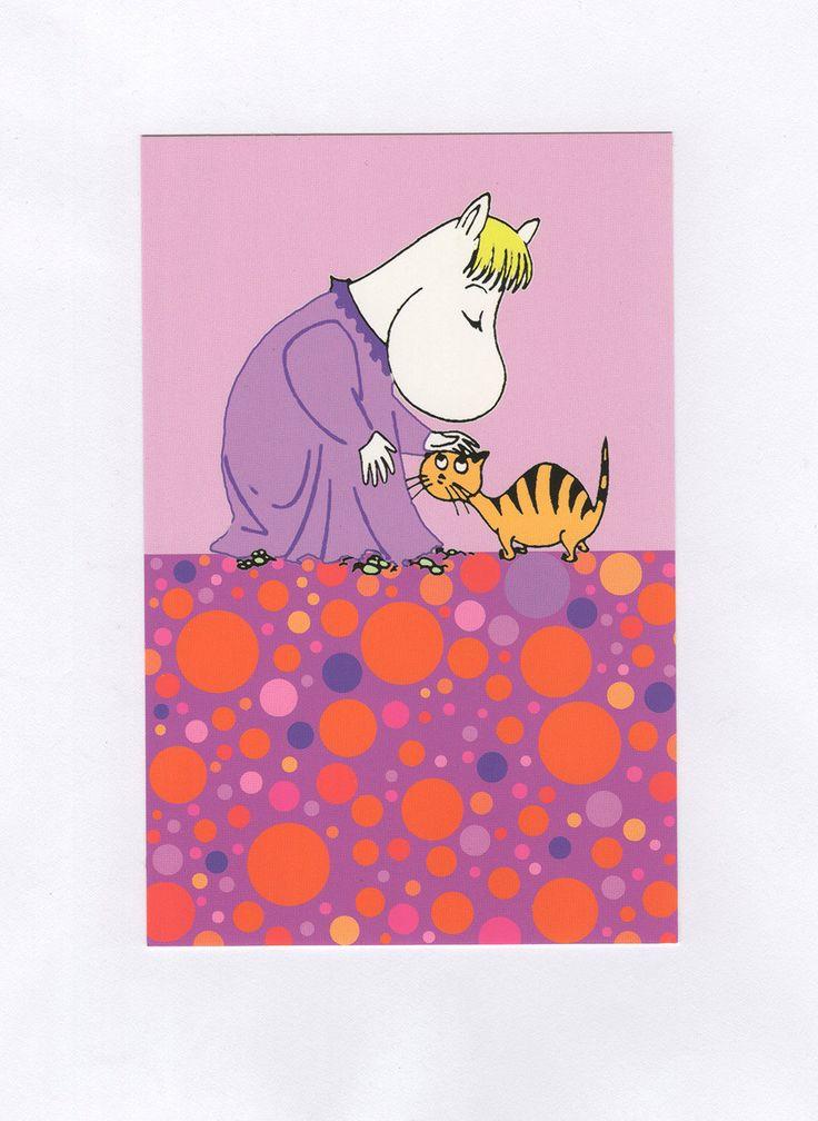 Snork Maiden modern style Moomin postcard Karto от Farmazony