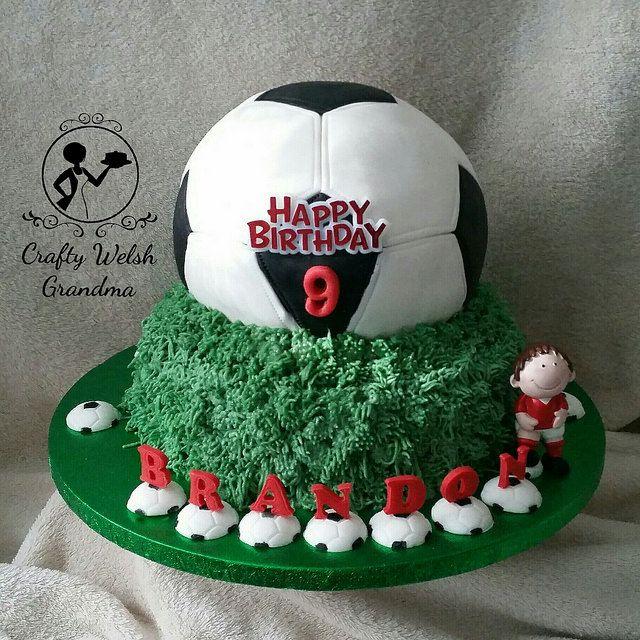 Crafty Welsh Grandma: Football Cake - Red