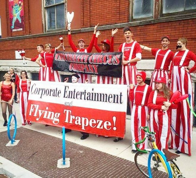 We had such an amazing time today at the Reds Opening Day Parade! Go Reds!  #parade #openingday #reds #baseball #event #entertainment #cincinnaticircus #stilts #cincinnati #redsbaseball #baseballgame #hulahoop #mime #juggler #stiltwalker (view on Instagram http://ift.tt/1RUzLpc)