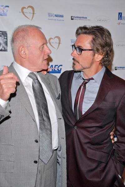 Anthony Hopkins and Robert Downey Jr.