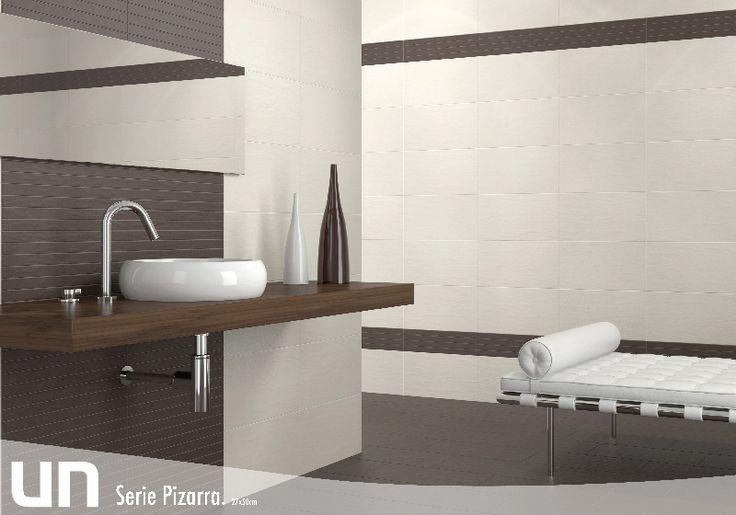 Formatos 27x50 pizarra estancias ba os pavimentos gres - Baldosas banos modernos ...