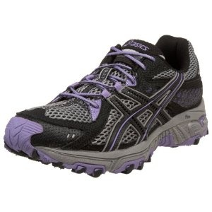 ASICS Women's GEL-Trabuco 13 Running Shoe,Platinum/Black/Violet,9.5 M US (Apparel) www.amazon.com/...
