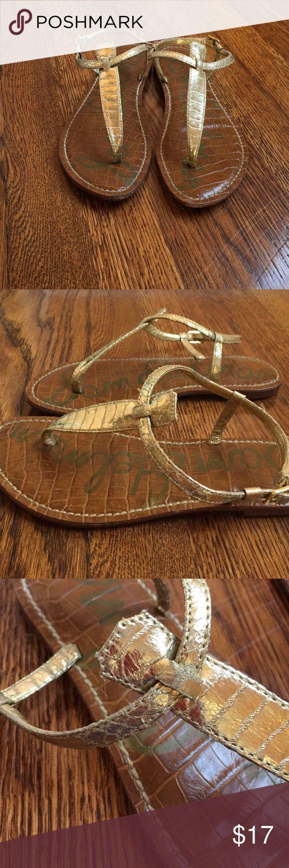 Gold Sam Edelman GiGi Sandals Fun gold Sandals. These do have some wear but still in pretty shape😜 Sam Edelman Shoes Sandals