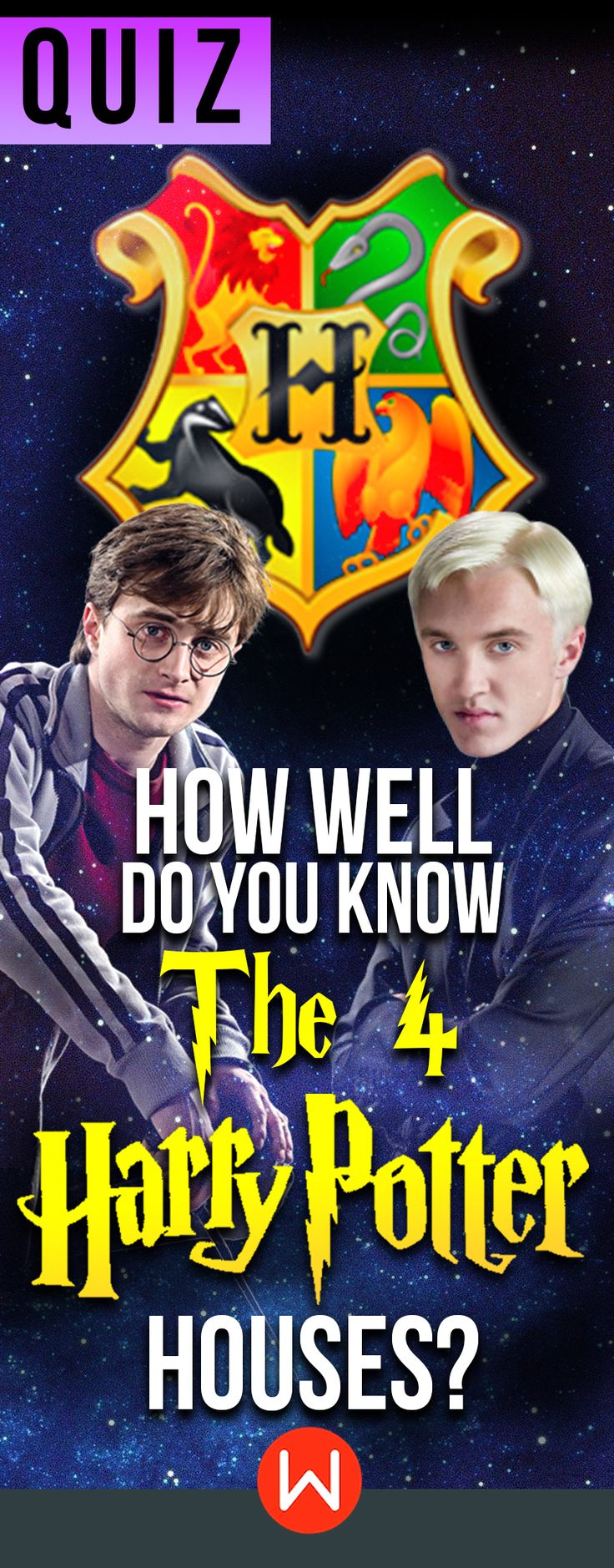 Quiz: How well do you know the 4 Harry potter houses? Gryffindor, Slytherin, Hufflepuff, Ravenclaw. It's time to put your thinking caps (or should we say sorting hats?) on! Hp quiz, Harry Potter trivia questions, Harry Potter Knowledge, buzzfeed quizzes, JK Rowling, Draco Malfoy.
