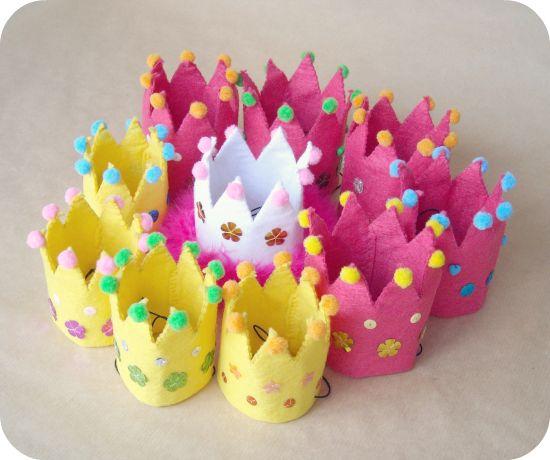 Coronas para regalar a las niñas en la fiesta de cumpleaños de la peque