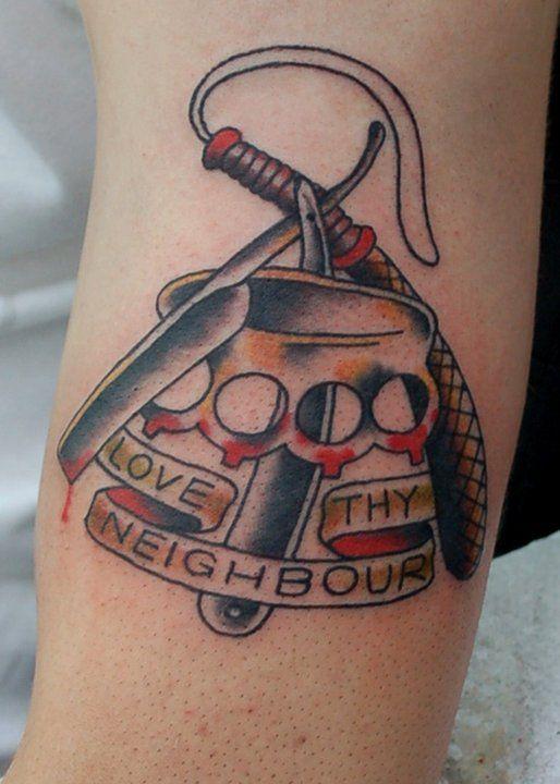 37 best skinhead tattoos images on pinterest tattoo for Cut throat tattoo