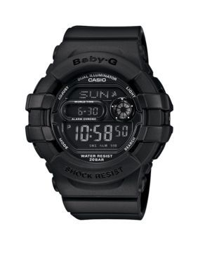 Baby-G Women's Black Digital Baby-G Watch - Black - One Size
