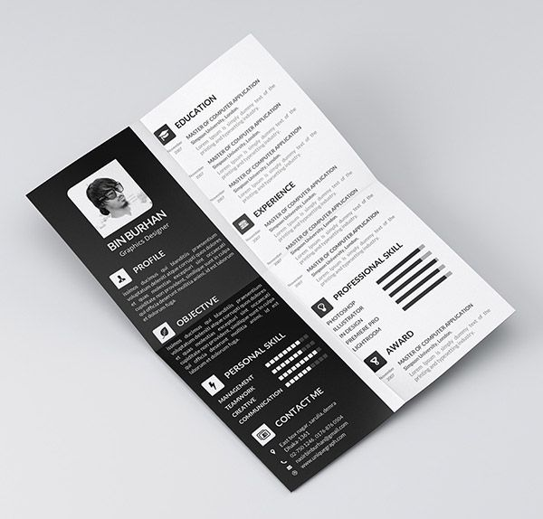 28 Free Cv Resume Templates Html Psd Indesign: 65 Best Images About Resume Design On Pinterest