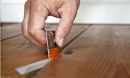 Insulating and draughtproof floorboards - StopGap won for ease of use. Other methods are talked about, including using slivers of pine reclaimed boards before you varnish.