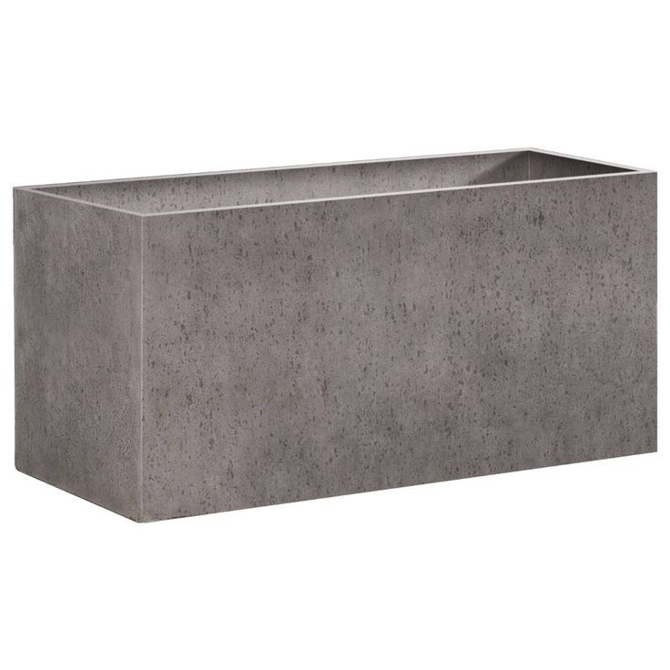 Biscay Rectangular 140x40x72cm Concrete Planter
