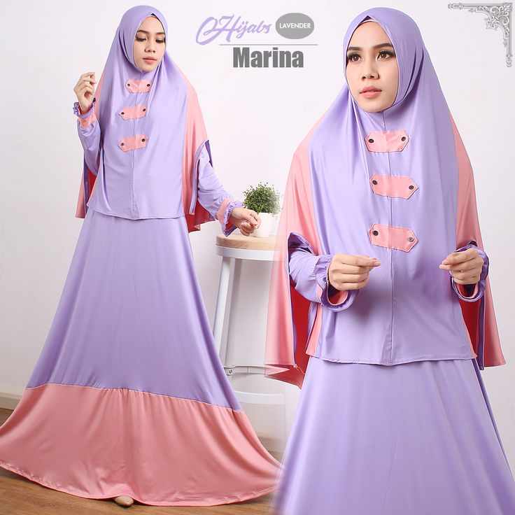 Model Baju Gamis | Ready Marina Syari Salem Lilac Harga Grosir