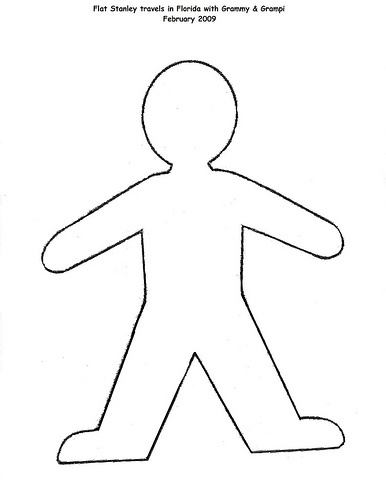 our template for the flat stanley
