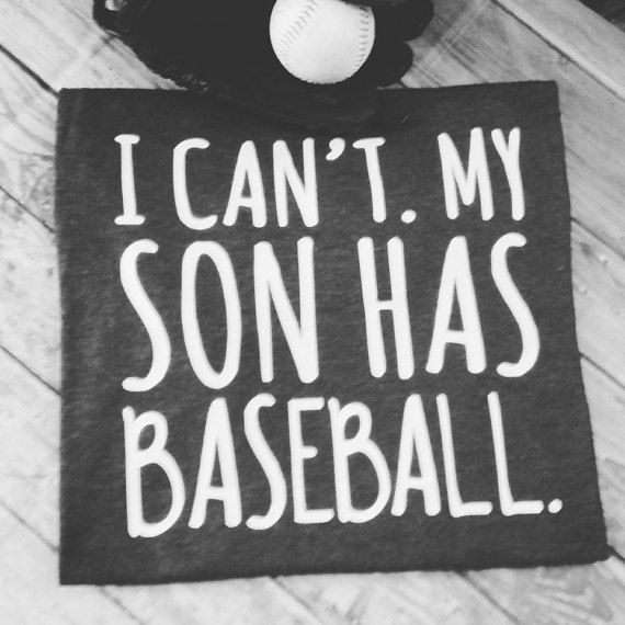 I can't. My son has baseball baseball mom by LondonLabelDesign