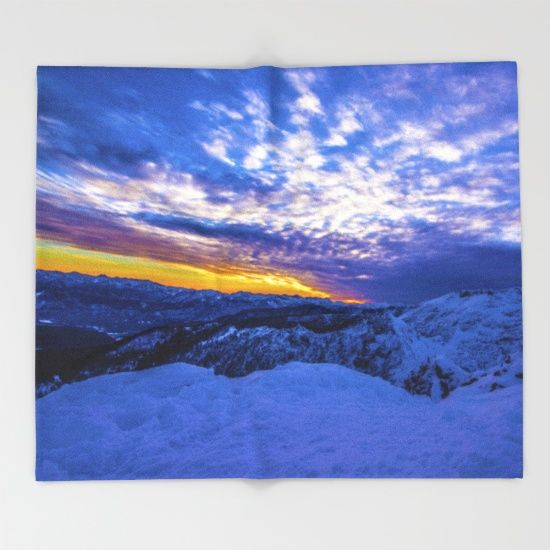 Our seriously soft throw blankets are available in three sizes and feature vividly colored artwork on one side. Made of 100% polyester and sherpa fleece, these might be the softest blankets on the planet, so get ready to cozy up. They can be machine washed separately with cold water on gentle cycle. Tumble dry on low heat setting. Do not iron or dry clean.