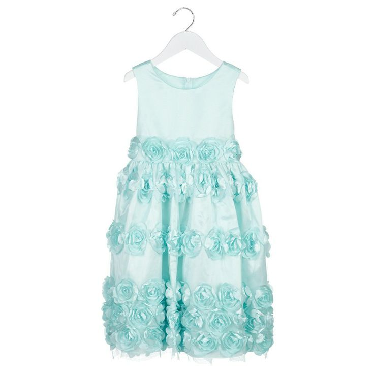 Sleeveless Dress w Flowers 4 6x 731831293  Special Occasion ...