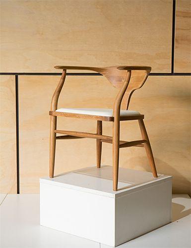 Peking Leather Dining Chair In Oak ChairsModernismRangeDining Room